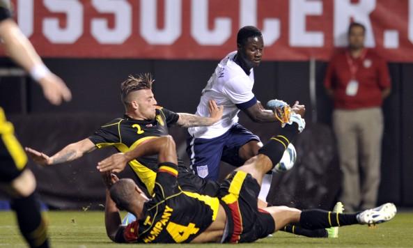 Belgium USMNT USA Eddie Johnson Vincent Kompany Toby Alderweireld