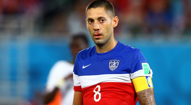 2014 FIFA World Cup Clint Dempsey broken bloody nose USA USMNT Ghana