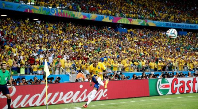 2014 FIFA World Cup Neymar Brazil corner kick