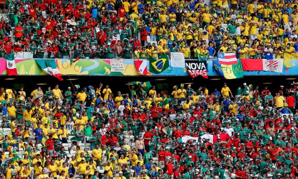 2014 FIFA World Cup Brazil Mexico fans