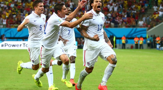 2014 FIFA World Cup Jermaine Jones USA USMNT goal celebration