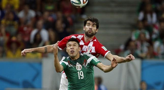 2014 FIFA World Cup Oribe Peralta, Vedran Corluka Mexico Croatia