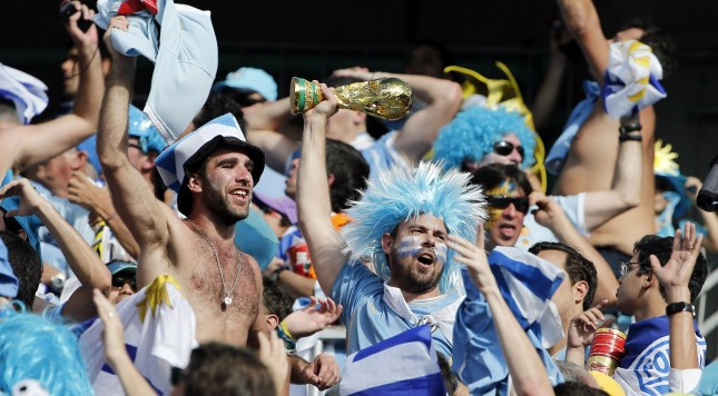2014 FIFA World Cup Uruguay fans
