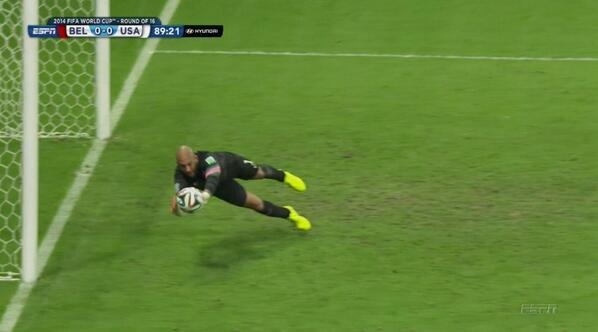 2014 FIFA World Cup Tim Howard USA USMNT Belgium save
