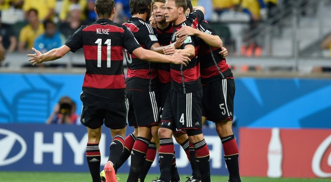 2014 FIFA World Cup Germany goal celebration