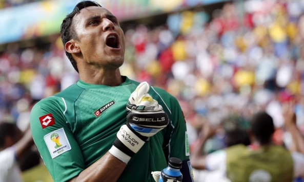 2014 FIFA World Cup Keylor Navas Costa Rica celebration