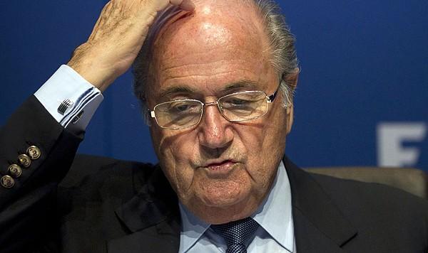 Sepp Blatter FIFA scratching head