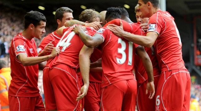 Liverpool huddle