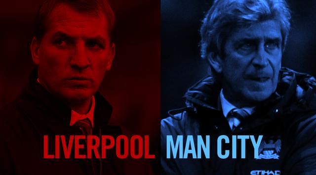 Liverpool Manchester City Brendan Rodgers Manuel Pellegrini