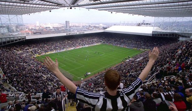 St James' Park fans Newcastle United