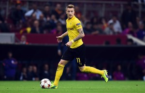 ISTANBUL, TURKEY - OCTOBER 22:  Marco Reus of Dortmund runs with the ball the UEFA Champions League group D match between Glatasaray AS and Borussia Dortmund at Ali Sami Yen Spor Kompleksi on October 22, 2014 in Istanbul, Turkey.  (Photo by Lars Baron/Getty Images)