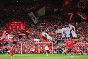 LIVERPOOL, ENGLAND - SEPTEMBER 01:  General View of the Kop during to the Barclays Premier League match between Liverpool and Manchester United at Anfield on September 01, 2013 in Liverpool, England.  (Photo by Alex Livesey/Getty Images)