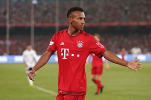 BEIJING, CHINA - JULY 18:  Julian Green of FC Bayern Muenchen gestures during the international friendly match between FC Bayern Muenchen and Valencia FC during the Audi Football Summit Beijing 2015 at National Stadium on July 18, 2015 in Beijing, China.  (Photo by Lintao Zhang/Getty Images)