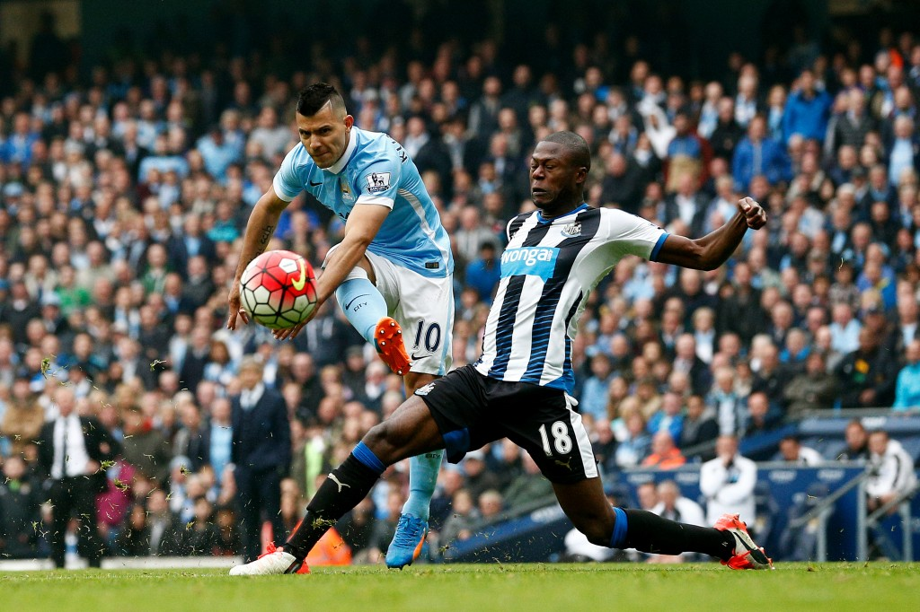xxxx during the Barclays Premier League match between Manchester City and Newcastle United at Etihad Stadium on October 3, 2015 in Manchester, United Kingdom.