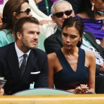 LONDON, ENGLAND - JULY 06:  David Beckham and Victoria Beckham in the Royal Box on Centre Court before the Gentlemen's Singles Final match between Roger Federer of Switzerland and Novak Djokovic of Serbia on day thirteen of the Wimbledon Lawn Tennis Championships at the All England Lawn Tennis and Croquet Club on July 6, 2014 in London, England.  (Photo by Matthew Stockman/Getty Images)
