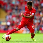 LIVERPOOL, ENGLAND - AUGUST 29: Roberto Firmino of Liverpool in action during the Barclays Premier League match between Liverpool and West Ham United at Anfield on August 29, 2015 in Liverpool, England.  (Photo by Clive Mason/Getty Images)