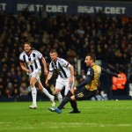 during the Barclays Premier League match between West Bromwich Albion and Arsenal at The Hawthorns on November 21, 2015 in West Bromwich, England.