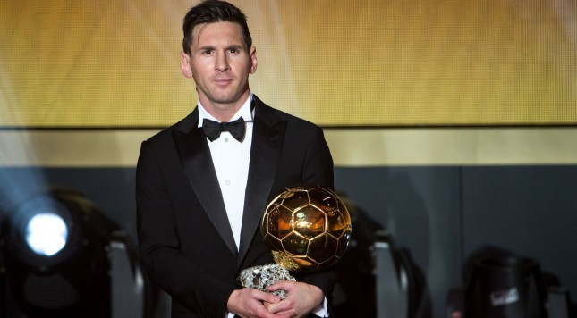 ZURICH, SWITZERLAND - JANUARY 11: FIFA Ballon d'Or winner Lionel Messi of Argentina and FC Barcelona looks on during the FIFA Ballon d'Or Gala 2015 at the Kongresshaus on January 11, 2016 in Zurich, Switzerland. (Photo by Philipp Schmidli/Getty Images)