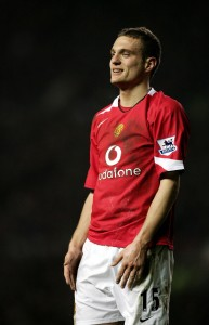 MANCHESTER, UNITED KINGDOM - FEBRUARY 04:  Nemanja Vidic of United in action during the Barclays Premiership match between Manchester United and Fulham at Old Trafford on February 04, 2006 in Manchester, England  (Photo by Richard Heathcote/Getty Images)