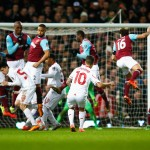 LONDON, ENGLAND - FEBRUARY 09: Philippe Coutinho of Liverpool scores from a free-kick during the Emirates FA Cup Fourth Round Replay match between West Ham United and Liverpool at Boleyn Ground on February 9, 2016 in London, England.  (Photo by Clive Rose/Getty Images)
