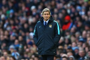 MANCHESTER, ENGLAND - FEBRUARY 14:  Manuel Pellegrini, Manager of Manchester City looks on during the Barclays Premier League match between Manchester City and Tottenham Hotspur at Etihad Stadium on February 14, 2016 in Manchester, England.  (Photo by Clive Brunskill/Getty Images)