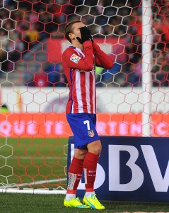 <> at Vicente Calderon Stadium on February 21, 2016 in Madrid, Spain.