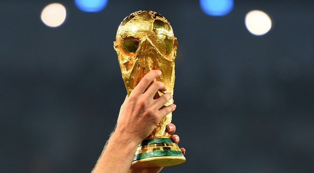 RIO DE JANEIRO, BRAZIL - JULY 13:  A close up of the World Cup trophy after the 2014 FIFA World Cup Brazil Final match between Germany and Argentina at Maracana on July 13, 2014 in Rio de Janeiro, Brazil.  (Photo by Laurence Griffiths/Getty Images)