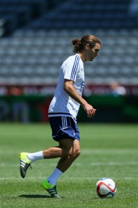 COMMERCE CITY, CO - JULY 28:  MLS All-Star Graham Zusi of the Sporting Kansas City works out during training ahead of the MLS All-Star Game against the Tottenham Hotspur at Dick's Sporting Goods Park on July 28, 2015 in Commerce City, Colorado. (Photo by Justin Edmonds/Getty Images)
