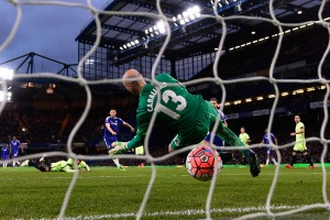 during The Emirates FA Cup fifth round match between Chelsea and Manchester City at Stamford Bridge on February 21, 2016 in London, England.