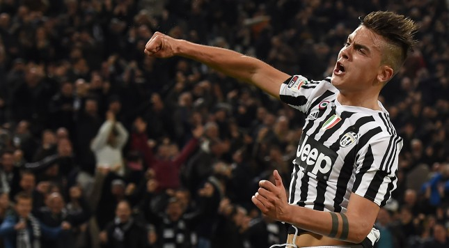 TURIN, ITALY - MARCH 11:  Paulo Dybala of Juventus FC celebrates after scoring the opening goal during the Serie A match between Juventus FC and US Sassuolo Calcio at Juventus Arena on March 11, 2016 in Turin, Italy.  (Photo by Valerio Pennicino/Getty Images)