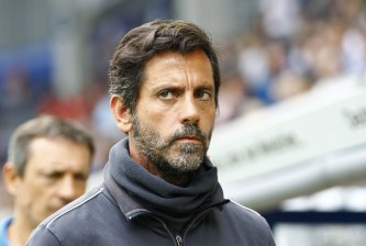 PADERBORN, GERMANY - JULY 19:  Head Coach Quique Sanchez Flores of Watford during the preseason friendly match between SC Paderborn and Watford FC at Benteler Arena on July 19, 2015 in Paderborn, Germany.  (Photo by Joachim Sielski/Getty Images)
