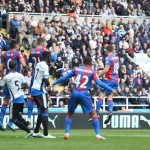 during the Barclays Premier League match between Newcastle United and Crystal Palace at St James' Park on April 30, 2016 in Newcastle upon Tyne, England.