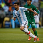 SEATTLE, WA - JUNE 14:  Ezequiel Lavezzi #22 of Argentina in action against Bolivia during the 2016 Copa America Centenario Group D match at CenturyLink Field on June 14, 2016 in Seattle, Washington.  (Photo by Otto Greule Jr/Getty Images)