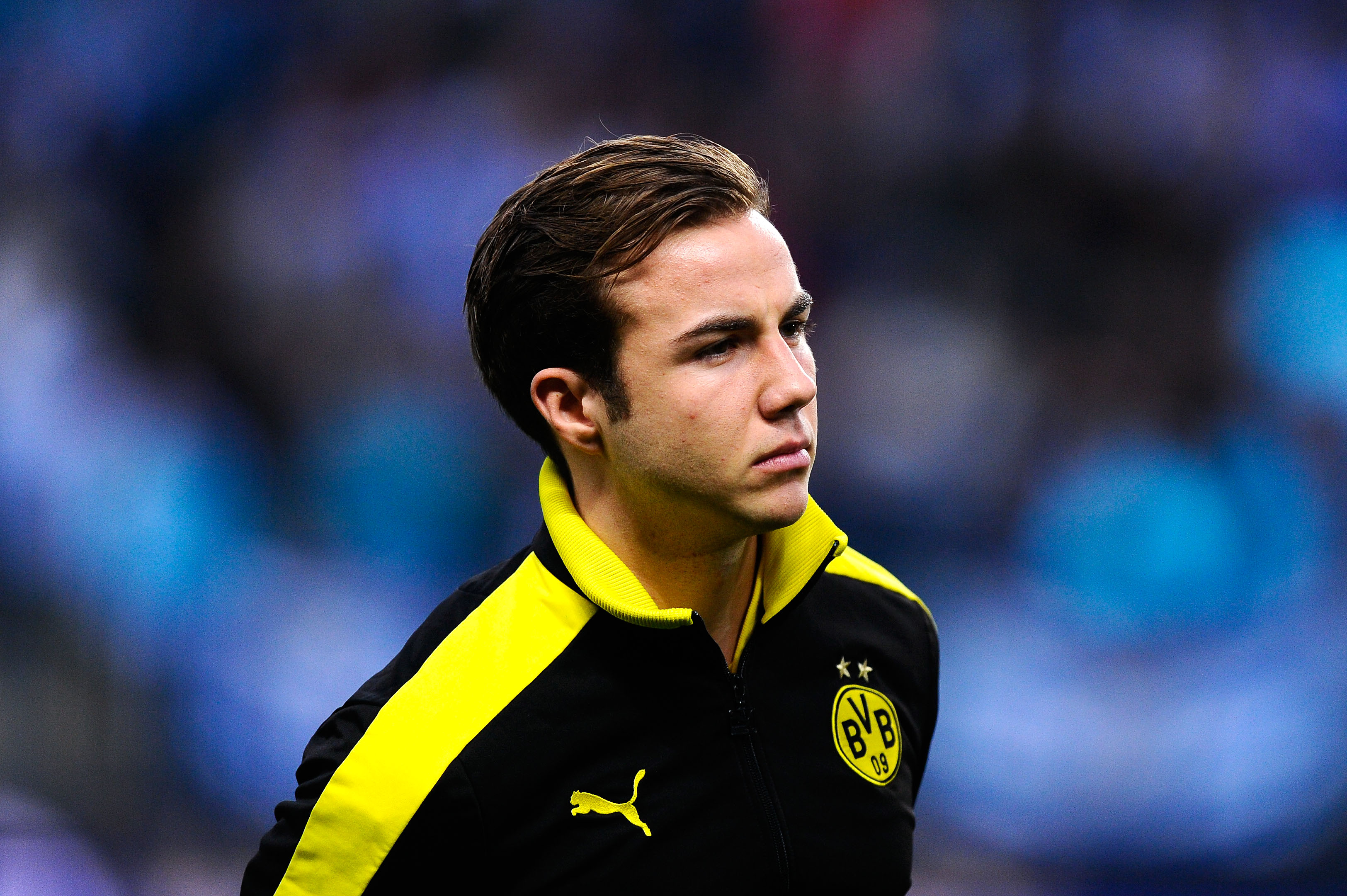 MALAGA, SPAIN - APRIL 03:  Mario Gotze of Borussia Dortmund looks on prior to the UEFA Champions League quarter-final first leg match between Malaga CF and Borussia Dortmund at La Rosaleda Stadium on April 3, 2013 in Malaga, Spain.  (Photo by David Ramos/Getty Images)