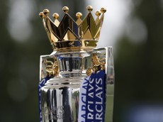 LONDON, ENGLAND - AUGUST 05: Detail of the Barclays Premier League trophy during the official Premier League season launch media event at Southfields Academy on August 5, 2015 in London, England.  (Photo by Steve Bardens/Getty Images)