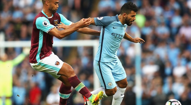 Aguero charged for elbow on All White