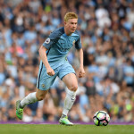 MANCHESTER, ENGLAND - AUGUST 13:  Manchester City player Kevin De Bruyne in action during the Premier League match between Manchester City and Sunderland at Etihad Stadium on August 13, 2016 in Manchester, England.  (Photo by Stu Forster/Getty Images)