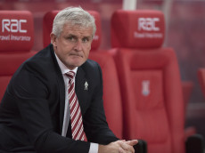STOKE ON TRENT, ENGLAND - SEPTEMBER 21: Mark Hughes, manager of Stoke City looks on during the EFL Cup Third Round match between Stoke City and Hull City at the Bet365 Stadium on September 21, 2016 in Stoke on Trent, England. (Photo by Nathan Stirk/Getty Images)