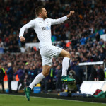 SWANSEA, WALES - NOVEMBER 26:  Gylfi Sigurdsson of Swansea City celebrates scoring his team's first goal during the Premier League match between Swansea City and Crystal Palace at Liberty Stadium on November 26, 2016 in Swansea, Wales.  (Photo by Jan Kruger/Getty Images)