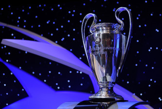 MONTE CARLO, MONACO - AUGUST 28:  A general view of the UEFA Champions League trophy at the UEFA Champions League Draw for the 2008/2009 season at the Grimaldi Center on August 28, 2008 in Monte Carlo, Monaco.  (Photo by Denis Doyle/Getty Images)