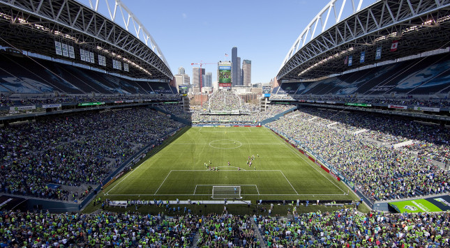 SEATTLE, WA - APRIL 14:  A general view during the match between the Seattle Sounders against the Colorado Rapids at CenturyLink Field on April 14, 2012 in Seattle, Washington. The Sounders defeated the Rapids 1-0. (Photo by Otto Greule Jr/Getty Images)
