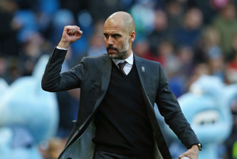 MANCHESTER, ENGLAND - JANUARY 02:  Josep Guardiola, Manager of Manchester City gestures prior to the Premier League match between Manchester City and Burnley at Etihad Stadium on January 2, 2017 in Manchester, England.  (Photo by Jan Kruger/Getty Images)