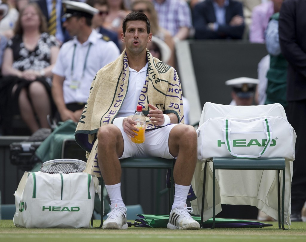When Novak Djokovic sat in his chair after the end of the fourth set, what must have been going on in his mind? His ability to meet that fourth-set disaster with a fifth-set triumph makes this Novak Djokovic's finest hour on a tennis court.