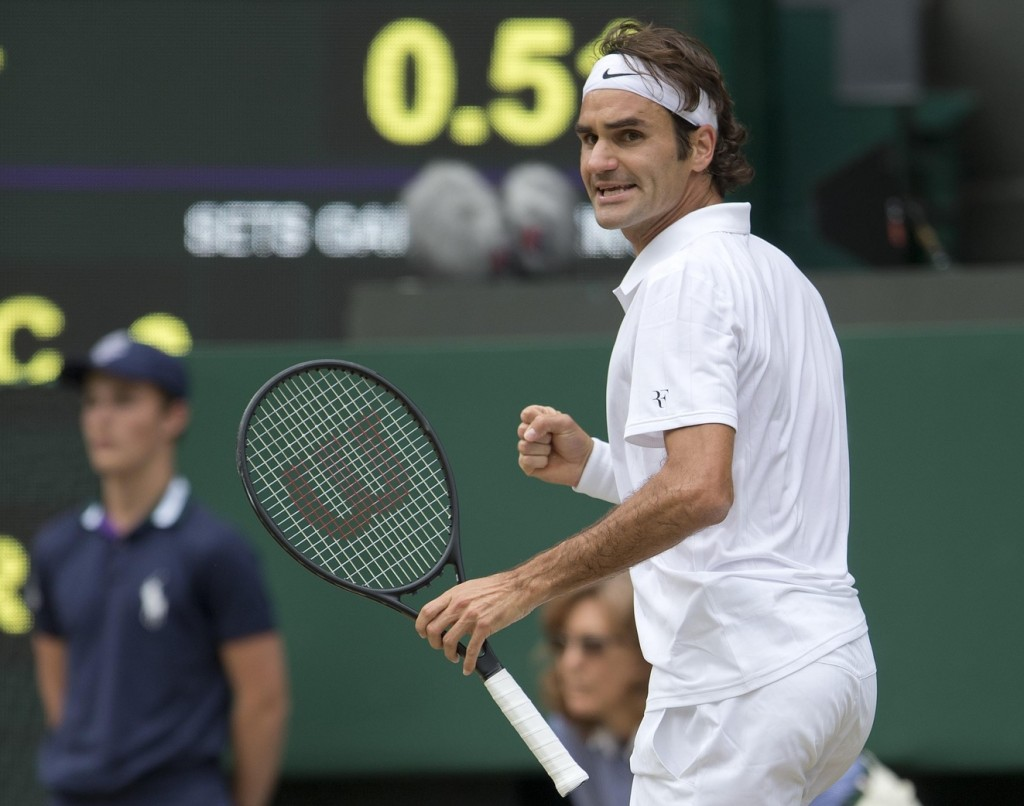 Roger Federer, climbing uphill for most of a five-set match against a generally superior player, brought to mind his similarly dogged maximum-length loss to Andy Murray in the 2013 Australian Open semifinals. Federer's image on the surface is one of elegance, but the Swiss, an old man in tennis terms, continues to show just how well he can fight and scrap in moments of importance. He didn't lose this match; Djokovic pried it away from him at the end of the fifth set.