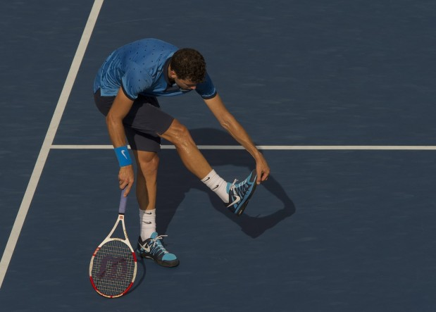 Grigor Dimitrov had to replace his shoes on Tuesday, just one sign of how worn-down the Bulgarian felt as his match wore on against  Gael Monfils. Dimitrov, like Milos Raonic, enjoyed a step-forward season at the majors in 2014, but in 2015, both men will be expected to do much more.