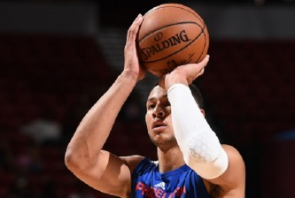 LAS VEGAS, NV - JULY 12:  Ben Simmons #25 of the Philadelphia 76ers prepares to shoot a free throw against the Golden State Warriors during the 2016 NBA Las Vegas Summer League on July 12, 2016 at The Thomas & Mack Center in Las Vegas, Nevada. (Photo by Garrett Ellwood/NBAE via Getty Images)