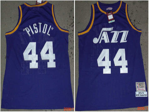 Day 25 Utah - Crossover Chronicles Newest 44 Pistol Pete Maravich Jersey  Men Throwback Vintage Basketball ... 76583c8cd