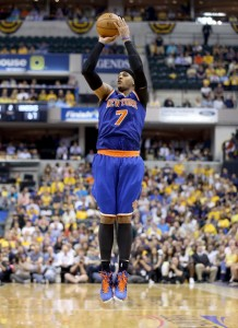 carmelo anthony jump shot vs pacers