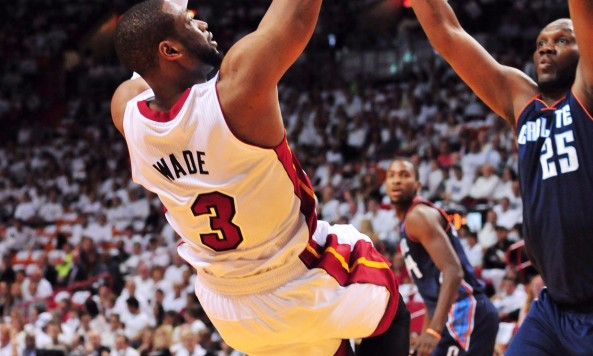 Dwyane Wade will have to remain healthy for the Heat to stay alive in the East. Photo by Steve Mitchell-USA TODAY Sports.