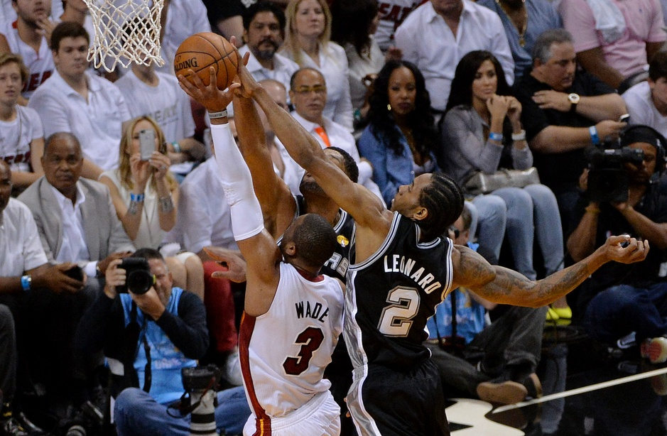 Kawhi Leonard had another star turn with 20 points and 14 rebounds. Photo by Steve Mitchell-USA TODAY Sports.